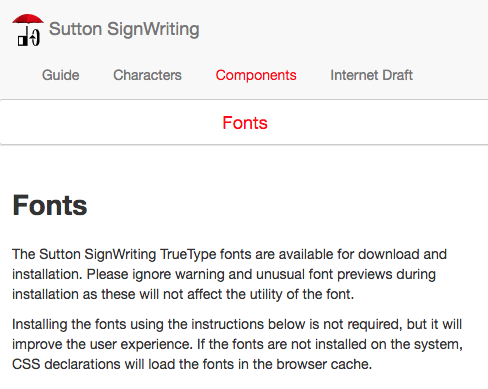 Sutton SignWriting Fonts